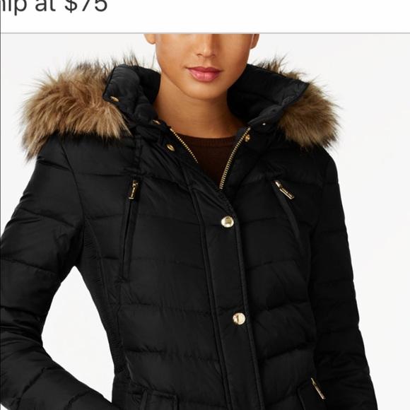 2be181b1344bfd Michael Kors Faux Fur Hooded Down Puffer Coat - L.  M_5c4789f2e944baabce621a83